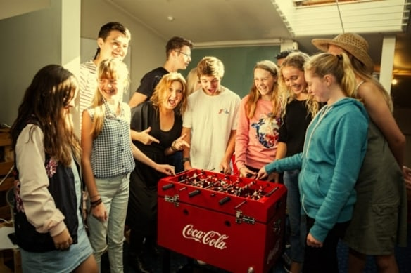 When Tracey Fawcett entered her barcodes in the MyCoke competition, the chance to win the Pop Up party caught her eye.
