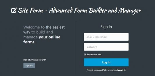 Site Form - Advanced Form Builder and Manager