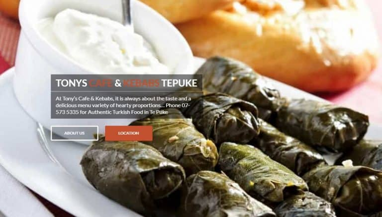 Tony's Cafe and Kebabs – Sponsor