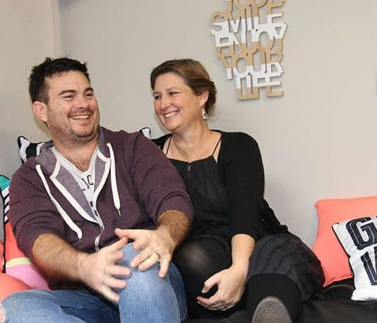 Stephen and Tracey Fawcett at 'The Loft', a funky new space for the youth of Te Puke.