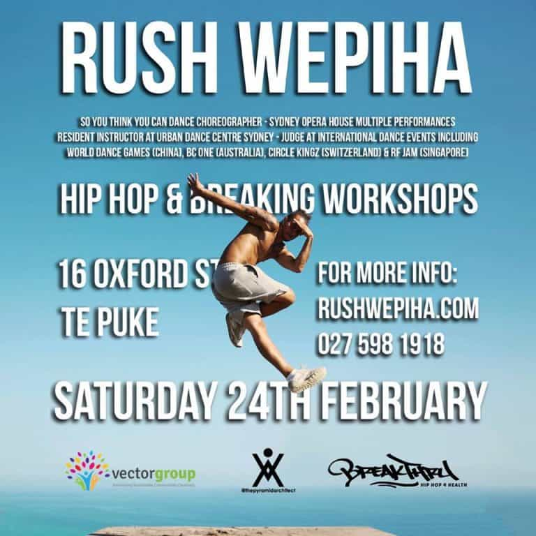 Breaking News Te Puke! Hip Hop and Breaking Workshops