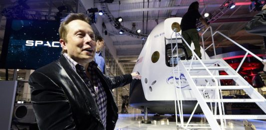 Elon Musk unveils The Dragon V2, designed to carry astronauts into space. Kevork Djansezian/Getty Images