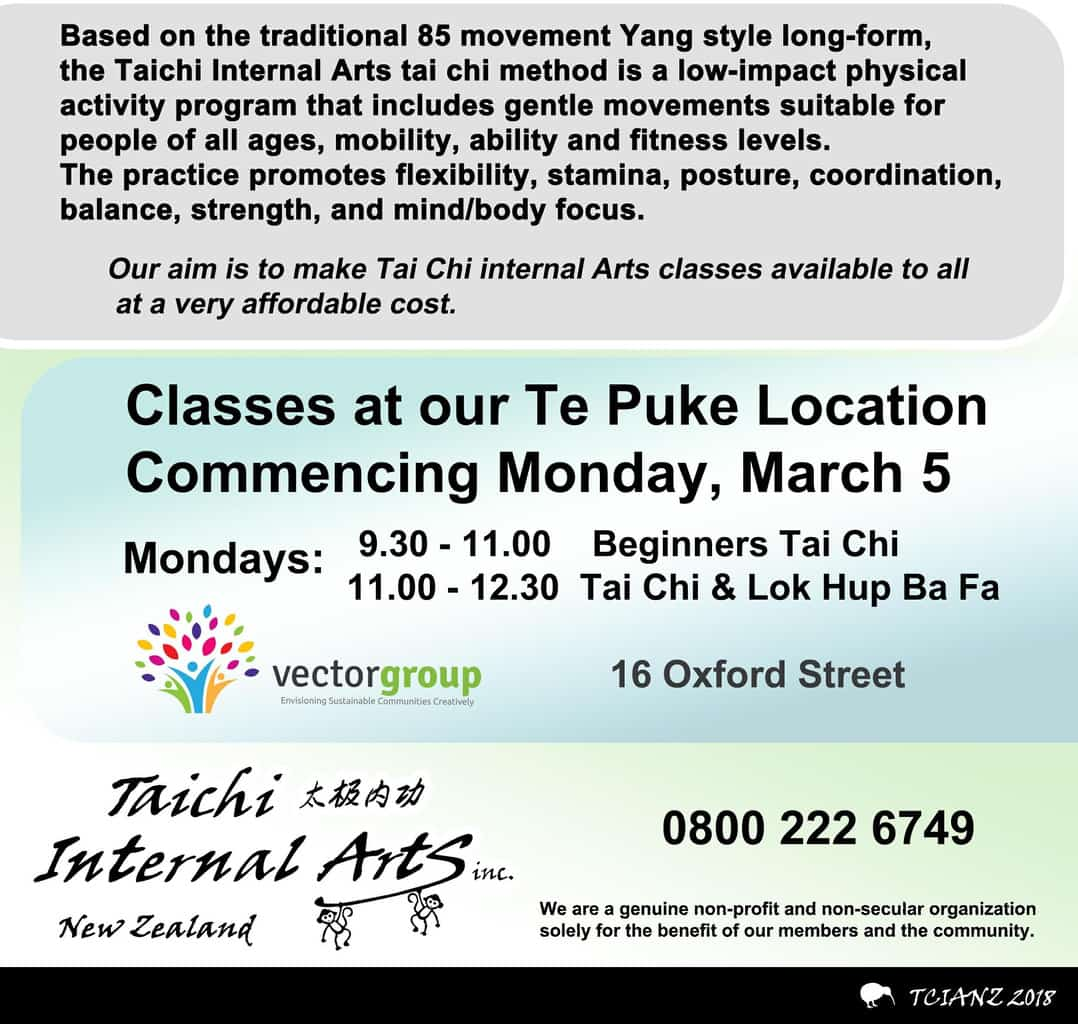 Tai Chi Te Puke Youth and Community Centre