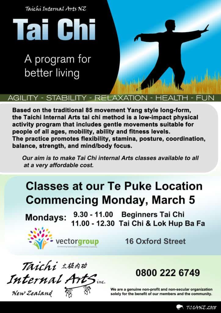 Te Puke Tai Chi Internal Arts