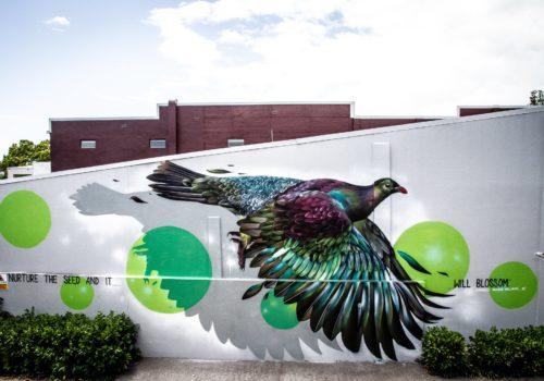 charles williams wall mural te puke