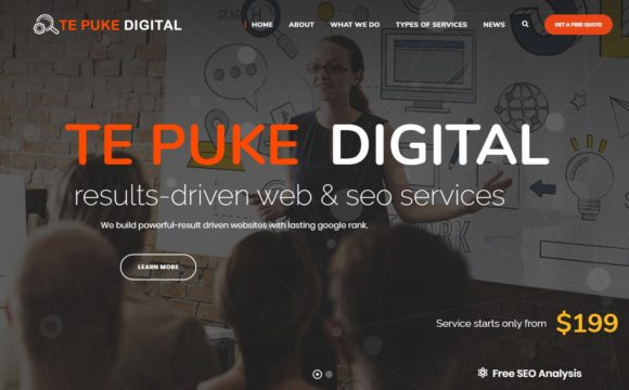 te puke digital, web design and seo expertise